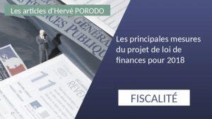 Les principales mesures du projet de loi de finances pour 2018